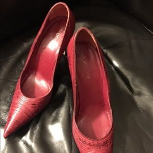 Sergio Rossi Pumps Heels Red/Black Sz 37